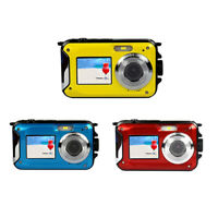 "2.7"" Double Screen Waterproof Full HD Camera 24MP 16x Digital Zoom Dive Camera"