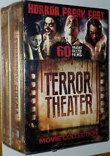Horror Freak Fest : Terror Theater Movie Colección 60 Fright Películas DVD Caja