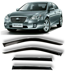 Chrome Trim Window Visors Guard Vent Deflectors For Faw Besturn B50 Sd 2008-2016
