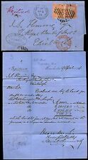 GB QV 1874 REGISTERED MANCHESTER + FORWARDING AGENT S.THOMSON..HANGING DITCH CDS