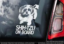 Shih Tzu - Car Window Sticker - Dog Sign -V01