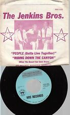 Rock Picture Sleeve Nashville 45 The Jenkins Brothers - People (Gotta Live Toget