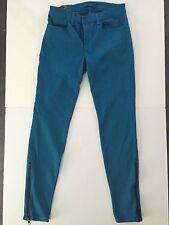 NWT J brand 622 Super skinny mid rise Azure blue zip Jeans 27 $209