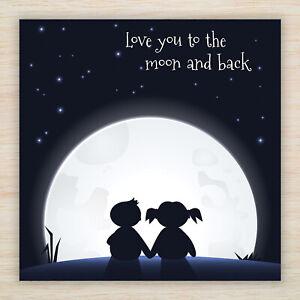 "Birthday Card ""Love You to Moon & Back"" Suit Husband Wife Boyfriend Girlfriend"
