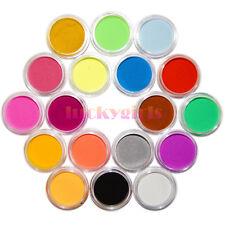 18 Colors Liquid Crystals Carving Powder Dust Acrylic Tip Kit 3D Decoration Set