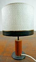60er Teak Tischleuchte Vintage Stehlampe Lampe Stehleuchte Leuchte Danish Modern