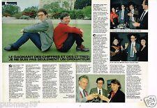 Coupure de presse Clipping 1985 (2 pages) Eric Avazeri Chiffres et des Lettres