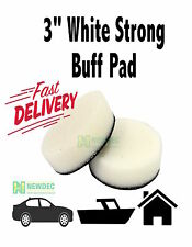 "WHITE BUFF PAD 3"" INCH 76MM STRONG POLISHING PAD FOAM AUTO NEW POLISHER"