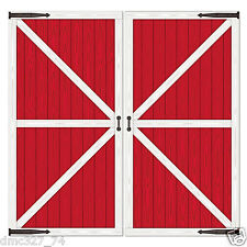 FARM Country Barnyard Party Decoration Red BARN DOOR Add On PROPS