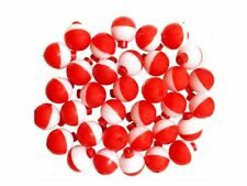 """200 Pack-1"""" Fishing Bobbers Red & White Snap-On Round Floats Wholesale@Us"""