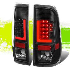 PAIR BLACK HOUSING 3D LED RED L-STREAK TAIL LIGHT LAMP FOR 08-16 FORD SUPER DUTY