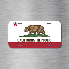 California State Flag License Plate Front Auto Tag Plate Cali Republic NEW Nice!