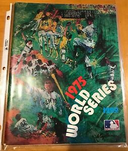 1975 Red Sox Reds World Series Program Leroy Neiman Cover