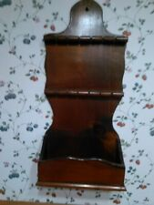Wooden Spoon Holder Display Rack with shelf on bottom Holds 12 spoons Curved