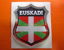 Pegatina Emblema 3D Relieve Bandera Euskadi - Todas las Banderas del MUNDO
