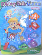 7-Piece Underwater Diving Fish Game Water Toy NEW Age 6+ Weighted  Fish