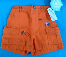 Hartstrings orange Carpenter Utility Shorts, 12M, new with tags