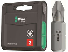 WERA 20 Universal Phillips 2 (PH2) 25mm, Drill Screwdriver Bits & Box, 057750