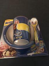 Nestle Nesquik Bowl, Tumbler, Spoon Collectible Set New Unopened
