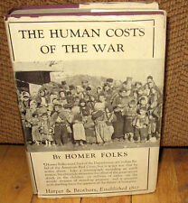 Lewis W Hine The Human Costs Of War Original 1920 Dust Jacket WWI Homer Folks HC