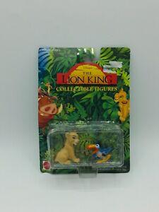 Disney The Lion King Collectible Figures Young Nala & Zazu Mattel 1994 Vintage