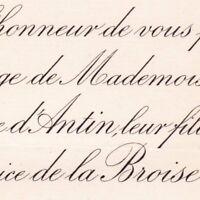 Marie Thérèse D'Antin Rennes 1889 Maurice De La Broise