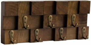 Unique 3D Key Holder Hooks for Wall - Decorative Wooden Key Hanger Wall Mounted