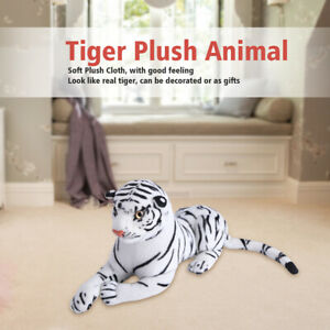 Artificial Simulation White Plush Tiger Soft Cuddly Stuffed Pillow Home
