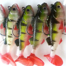 BABY FISH LEAD HEAD JIG feathers VMC hook LRF bass perch lure pike trout Lzh
