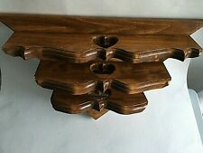 Vintage Handcrafted Wood 3 Shelf Wall Display Hanging w/ Heart Cut Out 3 Sizes
