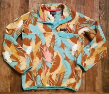 Patagonia Synchilla Snap-T Fleece Womens S small pullover jacket floral 25455