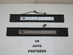 2015 - 2020 NEW TAKE OFF OEM FORD MUSTANG ILLUMINATED DOOR SILL PLATES SET OF 2