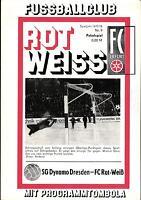 FDGB-Pokal Halbfinale 77/78 FC Rot-Weiß Erfurt - Dynamo Dresden, 11.03.1978