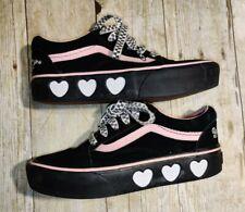 Vans x Lazy Oaf Old Skool Platform Black & Pink Shoes Bad For You Size 6 womens