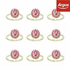 Ruby Excellent Cut Fine Diamond Rings