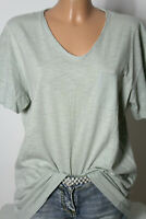 ZARA T-Shirt Gr. L mint-grün Baumwolle Kurzarm Damen T-Shirt