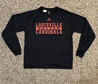 Louisville Cardinals Soccer adidas Mens M Long Sleeve Climalite Shirt NCAA
