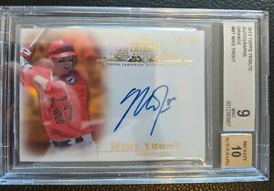 2013 TOPPS TRIBUTE ORANGE REFRACTOR MIKE TROUT AUTOGRAPH ANAHEIM ANGELS #11/25
