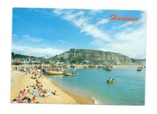 Sussex - Hastings, Fishing Beach and Harbour - Postcard