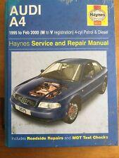 Haynes Workshop Manual Audi A4 1995 To 2000