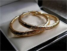 LARGE GENUINE 9CT GOLD HOOP EARRINGS GF,SELLING OUT FAST, SILLY PRICE! ST16