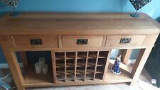 Cotswold Company Solid Oak Open Wine Rack Sideboard