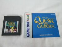 Quest for Camelot (Nintendo Game Boy Color, 1998) Game and Manual