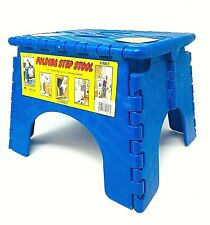 Sturdy B & R, E-Z Foldz Folding Step Stool: BLUE