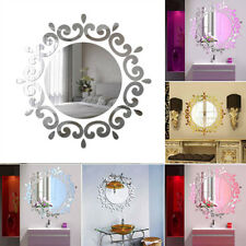 3D Feather Mirror Wall Room Sticker DIY Home Decal Mural Art Decoration Beauty