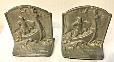 Viking Book Ends - Set of 2 - Good Condition