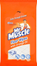 2 x Mr Muscle Floor Cleaning Wipes With Orange Oil - Pack of 12
