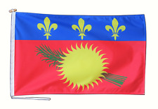 More details for guadeloupe france flag with rope and toggle - various sizes
