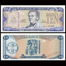 Liberia 10 Dollars, 2011, P-27f, UNC