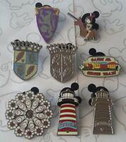Fantasyland Icons Collection 2012 Hidden Mickey DLR Disney Pin Make a Set Lot